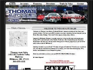 Thomas Used Cars Hillsboro Oregon